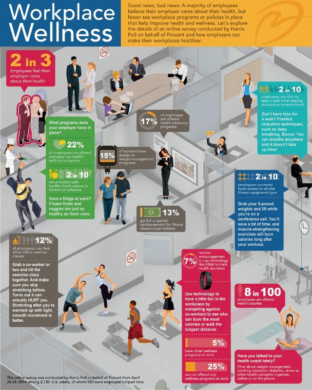 Provant's Workplace Wellness Infographic. (Photo: PRNewsFoto/Provant)