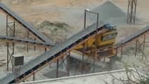 Unused coal mine conveyor belt ready to be repurposed.