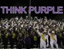 Think Purple Marching Leathernecks.