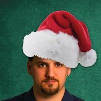 FM Frequency Columnist Charles Carpenter with Santa hat.