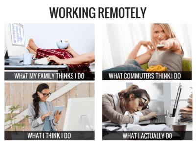 remote work meme